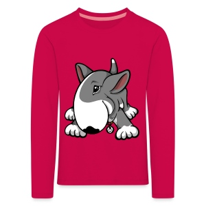 Play Time Bull Terrier Grey - Kids' Premium Longsleeve Shirt