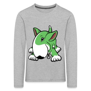 Play Time Bull Terrier Green - Kids' Premium Longsleeve Shirt