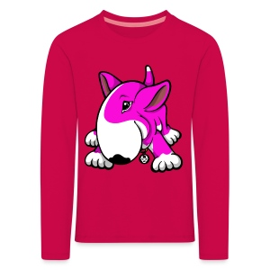 Play Time Bull Terrier Pink - Kids' Premium Longsleeve Shirt