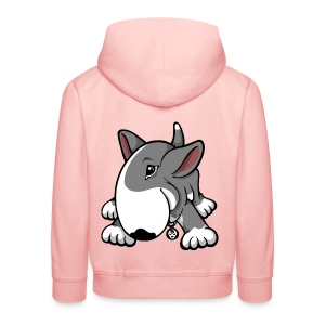 Play Time Bull Terrier Grey - Kids' Premium Hoodie