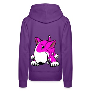 Play Time Bull Terrier Pink - Women's Premium Hoodie