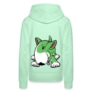 Play Time Bull Terrier Green - Women's Premium Hoodie