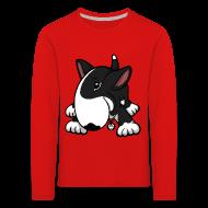 Long Sleeve Shirts ~ Kids' Premium Longsleeve Shirt ~ Play Time Bull Terrier Black