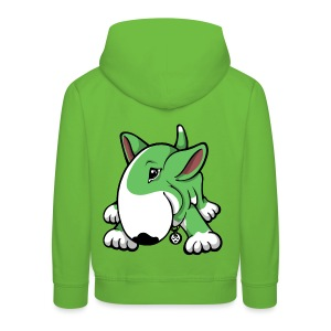 Play Time Bull Terrier Green - Kids' Premium Hoodie