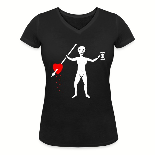 Tee shirt col V Femme John Quelch Flag - T-shirt bio col V Stanley & Stella Femme