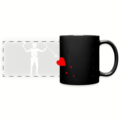 Mug Edward Teach - Barbe noire - Mug panoramique uni
