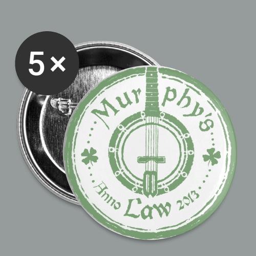Pins. - Mellanstora knappar 32 mm (5-pack)
