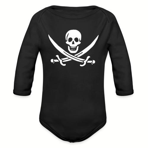 Body manches longues Bébé Jack Rackham Flag - Body bébé bio manches longues