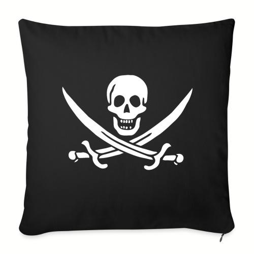 Housse de coussin Jack Rackham Flag - Housse de coussin décorative 44x 44cm