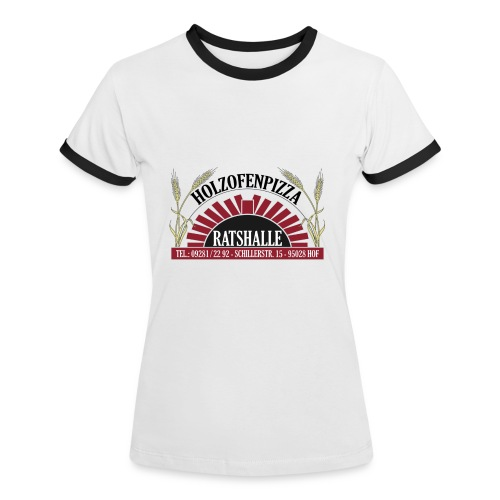Holzofenpizza Ratshalle w/s (Frauen) - Frauen Kontrast-T-Shirt