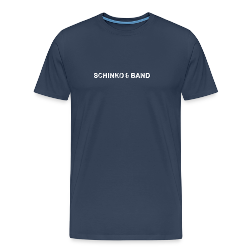 Herren T-Shirt Premium - Logo, Weiß - Männer Premium T-Shirt