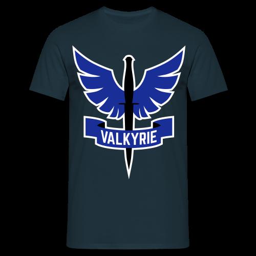 Men's Shirt with Blue Logo - Men's T-Shirt
