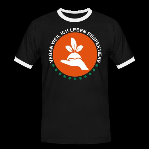 VEGAN - Männer Kontrast-T-Shirt