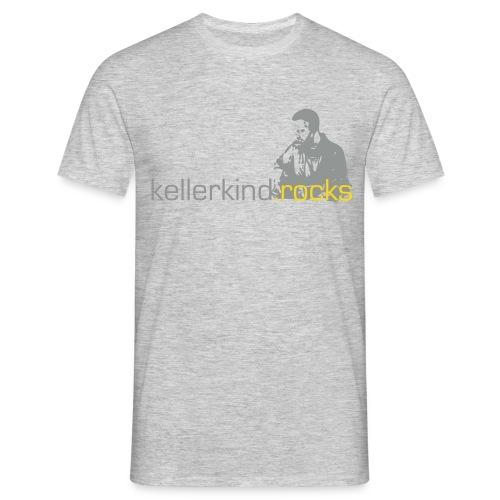 Shirt, Motiv 2-farbig, Grau - Männer T-Shirt