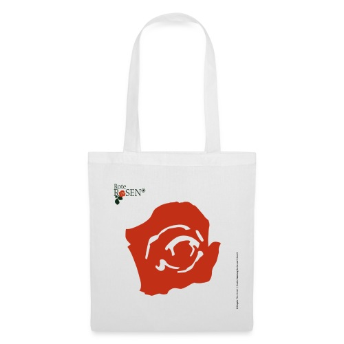 Rote Rosen - Stoffbeutel Blüte - Stoffbeutel