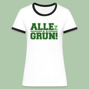 ALLEz GRÜN! - Frauen Kontrast-T-Shirt - Frauen Kontrast-T-Shirt