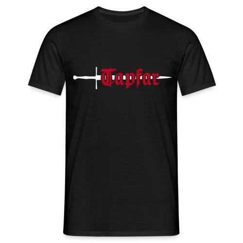 Männer, Front & Rückseite, Baumwolle, Flockdruck (samtig) - Männer T-Shirt
