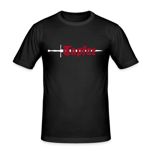 Männer, Slim-Fit, Front & Rückseite, Baumwolle, Flockdruck (samtig) - Männer Slim Fit T-Shirt