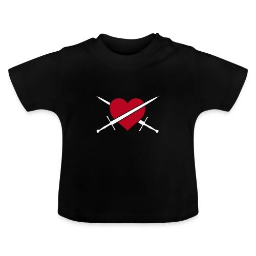 Baby, Herz & URL, Baumwolle, Flockdruck (samtig) - Baby T-Shirt