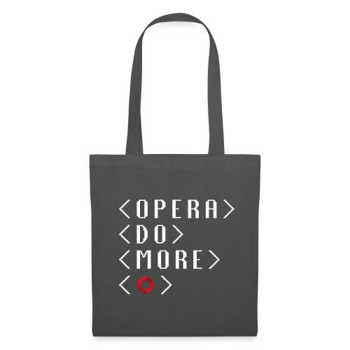 Opera DO MORE pixel tote bag grey - Tote Bag