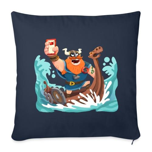 Olaf sofa pillow cover dark blue - Sofa pillow cover 44 x 44 cm