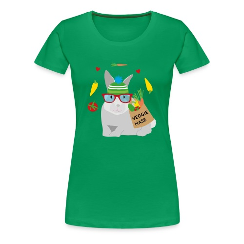 Veggie Hase - Frauen Premium T-Shirt