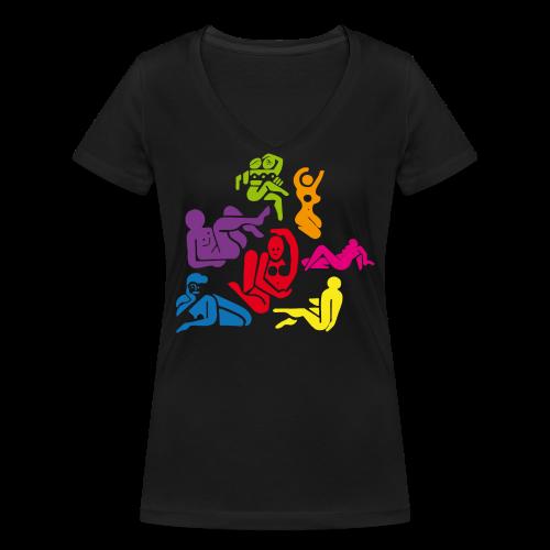 Donne - T-shirt bio col V Stanley & Stella Femme