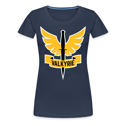Women's Shirt with Yellow Logo - Women's Premium T-Shirt