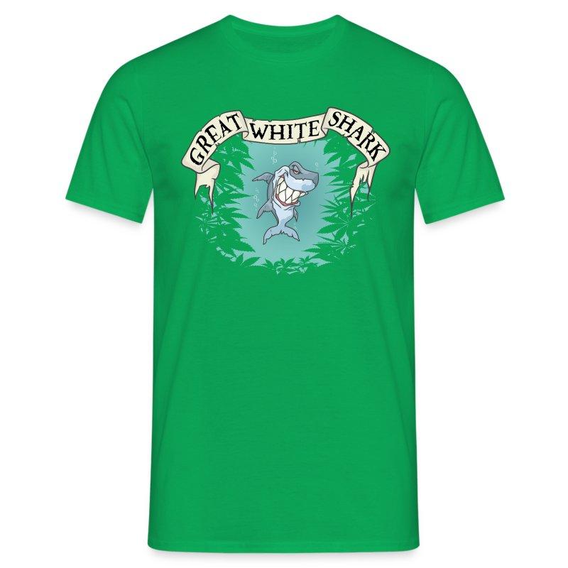 Great White Shark / Strain - male - Men's T-Shirt