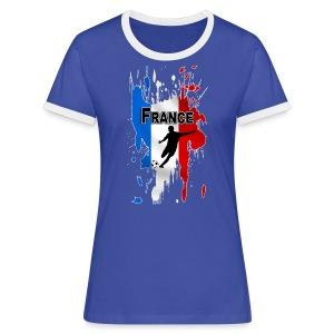 Football France - Women's Ringer T-Shirt
