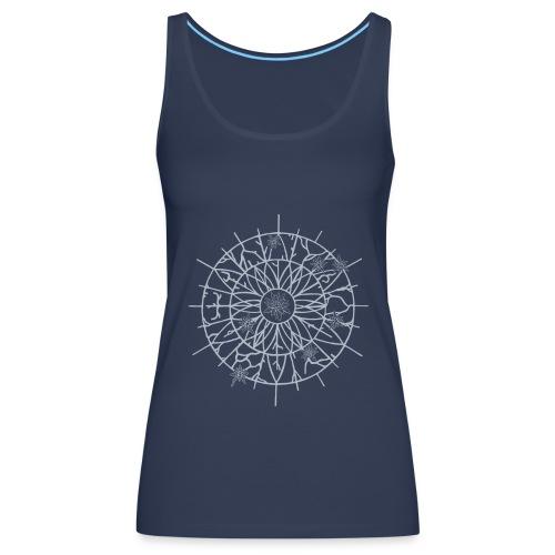 Edelweiss Wheel T-Shirt Marine - Débardeur Premium Femme
