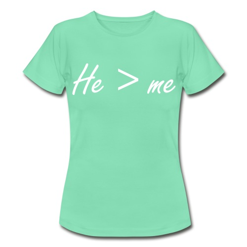 He is bigger than me Damenshirt - Frauen T-Shirt