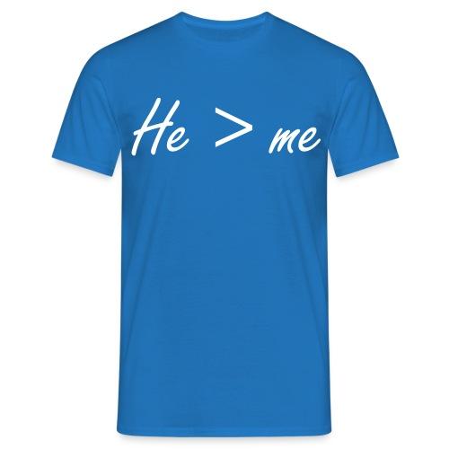 He is bigger than me Herrenshirt - Männer T-Shirt