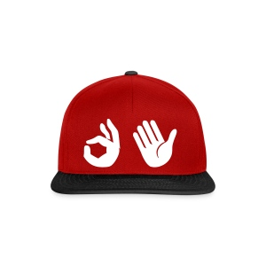 Snapback - Emoji (rood/zwart) - Snapback cap
