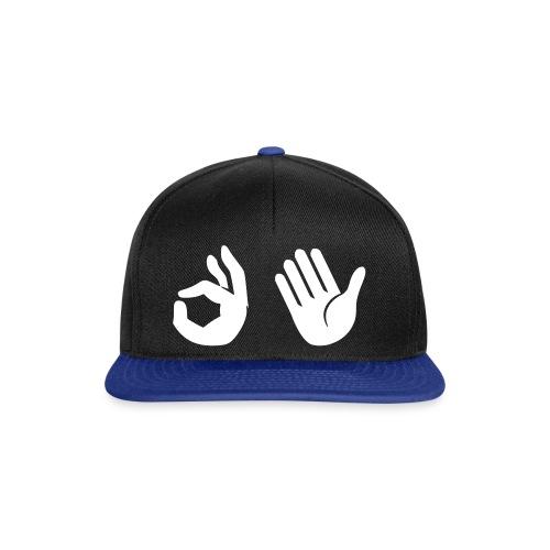 Snapback - Emoji (zwart/koningsblauw) - Snapback cap