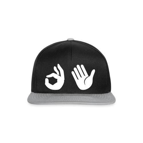 Snapback - Emoji (zwart/grijs) - Snapback cap
