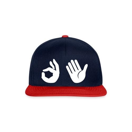 Snapback - Emoji (navy/rood) - Snapback cap