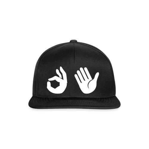 Snapback - Emoji (zwart) - Snapback cap