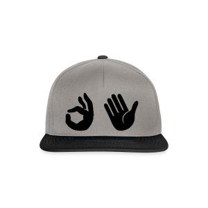Snapback - Emoji (grafietgrijs/zwart) - Snapback cap