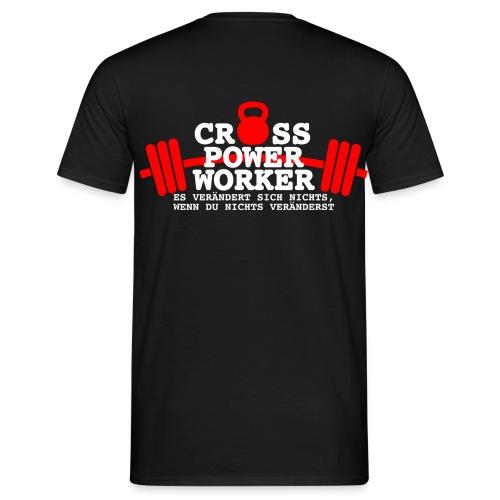 Cross Power Worker Logo - Männer T-Shirt