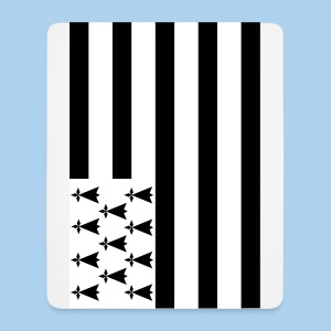 tapis de souris drapeau breton - Tapis de souris (format portrait)