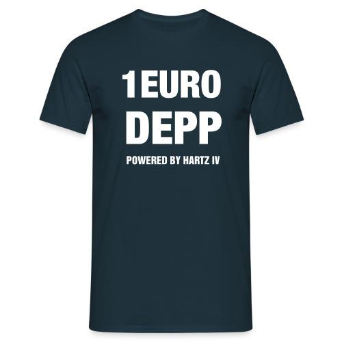 T-Shirt dunkelblau mit Druck auf Vorderseite - Männer T-Shirt