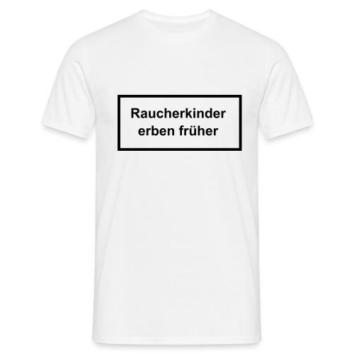 T-Shirt weiß mit Druck auf Vorderseite - Männer T-Shirt