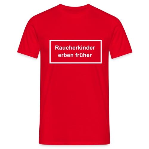 T-Shirt rot mit Druck auf Vorderseite - Männer T-Shirt