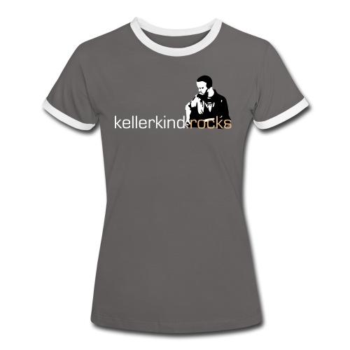 Damen-Shirt, Motiv 2 Farben - Frauen Kontrast-T-Shirt