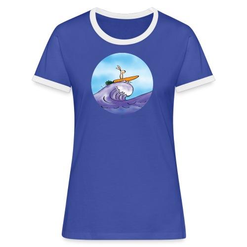 Kaninen morotssurfar - Kontrast-T-shirt dam - Kontrast-T-shirt dam