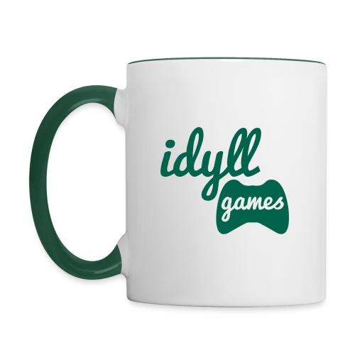 Idyll Games Premium Mug (Right Handed) - Contrasting Mug