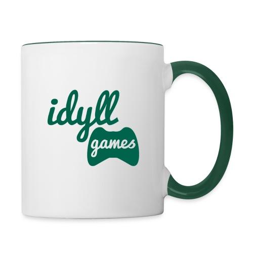 Idyll Games Premium Mug (Left Handed) - Contrasting Mug
