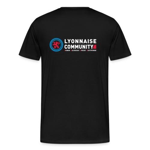 T-shirt Lyonnaise Community Col rond Homme - T-shirt Premium Homme
