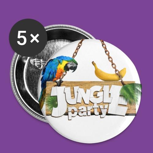 Badges JUNGLE PARTY x5 - Badge grand 56 mm